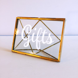 Gold Frame Sign