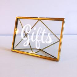 Gold Frame Sign
