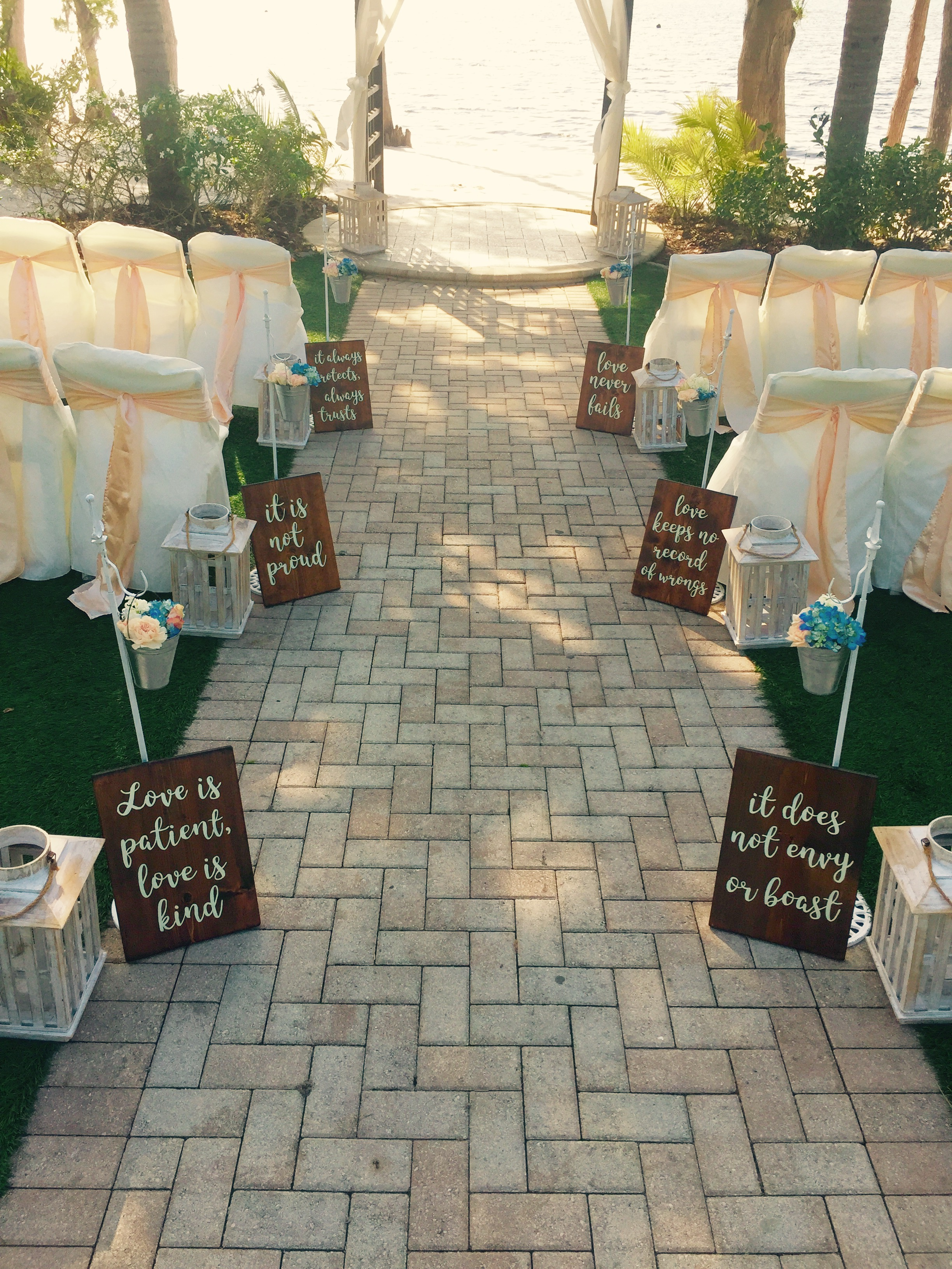 """Love Is"" Aisle Signs"
