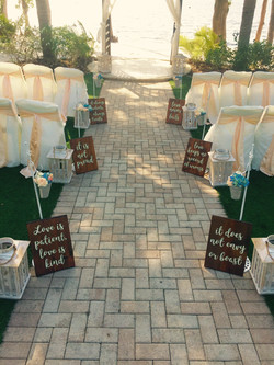 """""""Love Is"""" Aisle Signs"""
