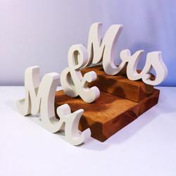 Mr & Mrs Table Decor