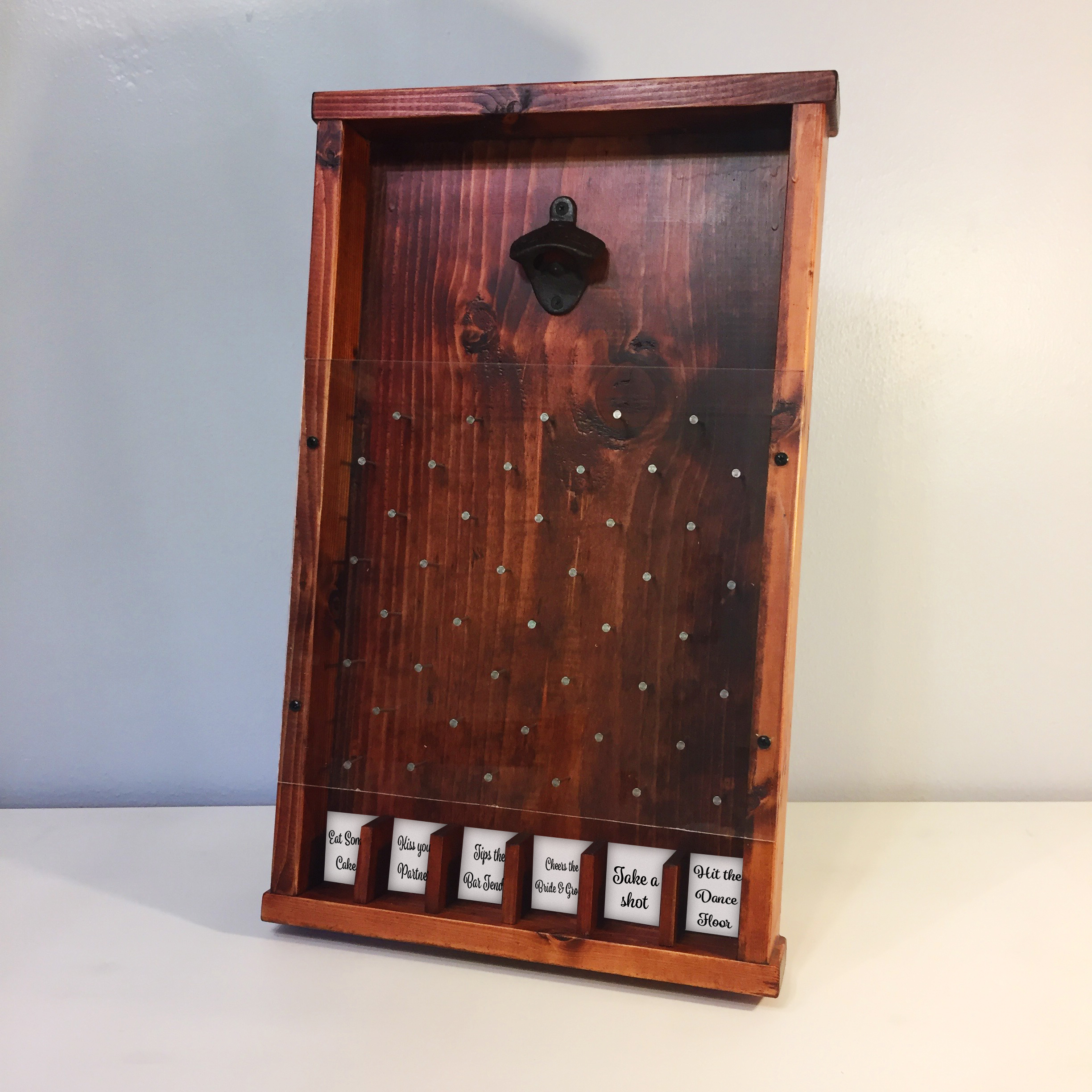 Bottle Cap Plinko Board