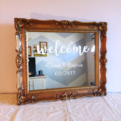 "Antique Gold ""Welcome"" Sign"