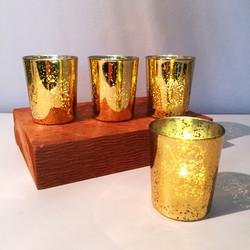 Gold Mercury Glass Votives