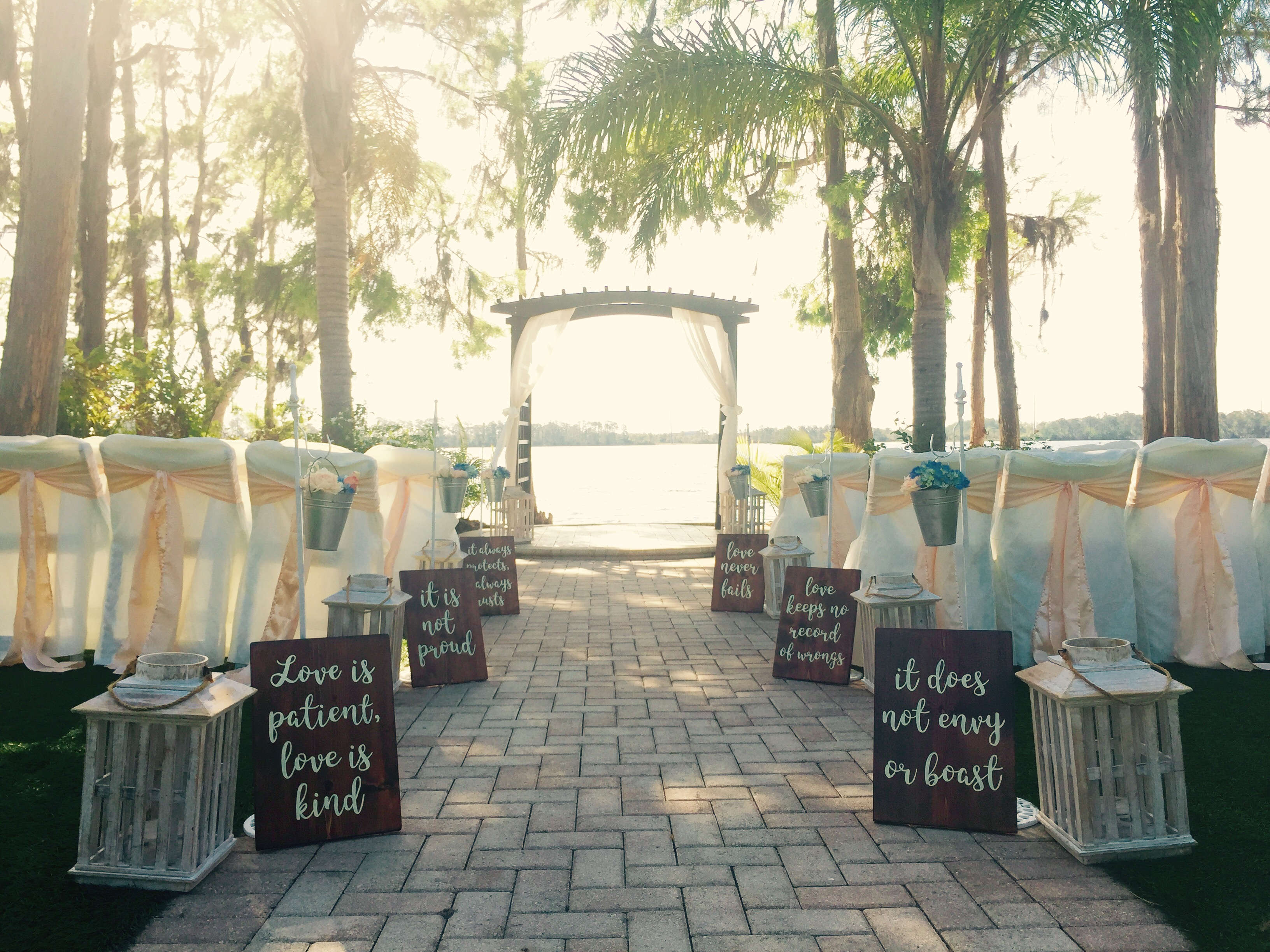 Ceremony Setup at Paradise Cove