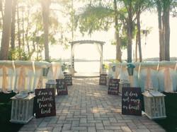 Ceremony Setup at Paradise Cove