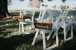 Wood Reserved Signs