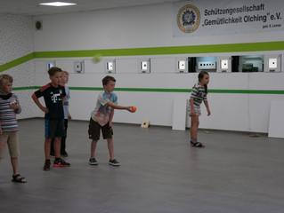 Erstes Ferienprogramm im neuen Schützenheim