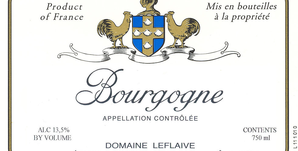 2012 Domaine Leflaive • Bourgogne Blanc