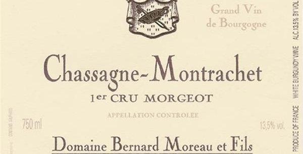 2011 Bernard Moreau Chassange Montrachet 1er Cru Morgeot