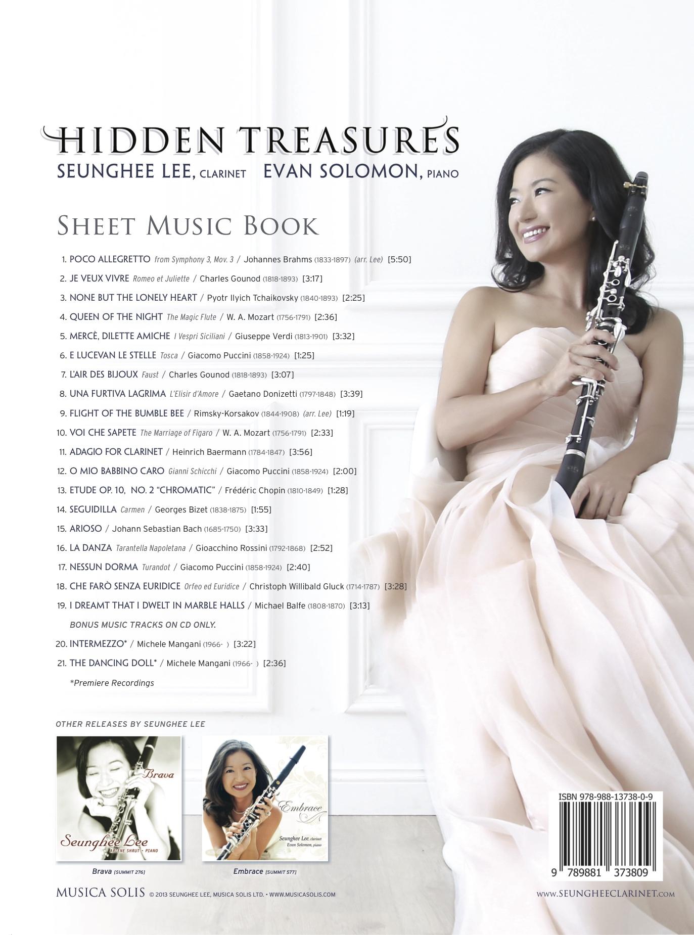 Hidden Treasures Sheet Music Back