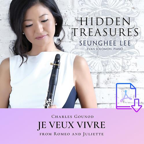 Gounod: Je Veux Vivre from Roméo et Juilette (Arr. Lee)