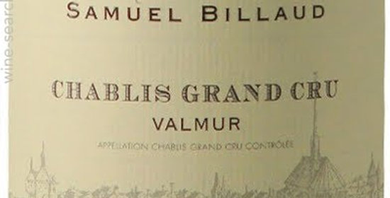 2015 Samuel Billaud Chablis Grand Cru Valmur