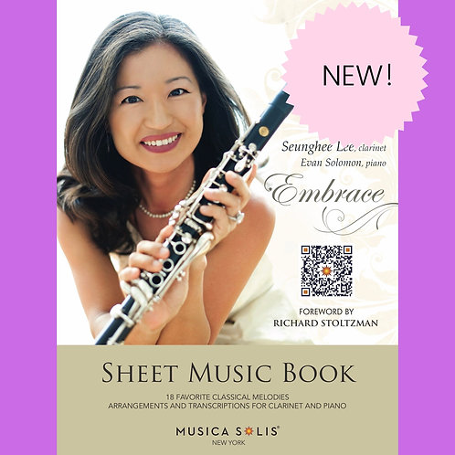 Embrace Sheet Music Book for Clarinet and Piano