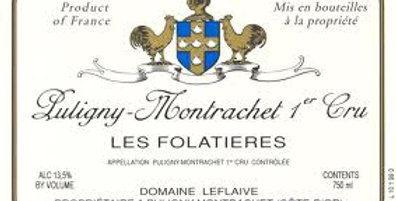 2016 Domaine Leflaive Puligny Montrachet Les Folatieres