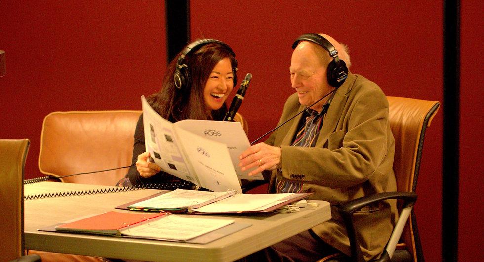 Clarinetist Seunghee Lee and Marc Aubort