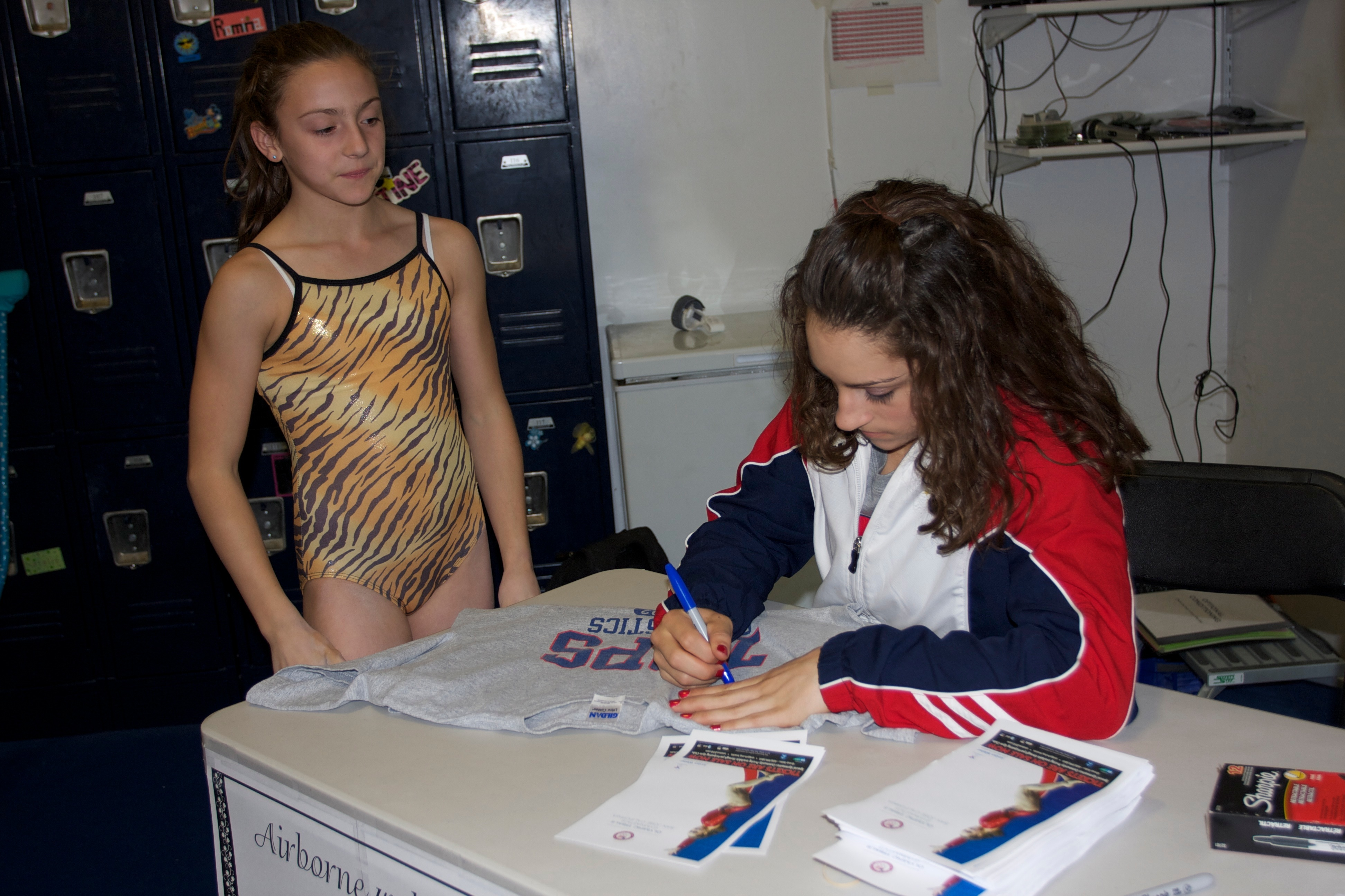 With Jordyn Wieber