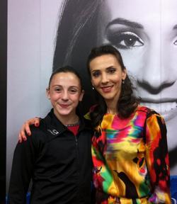 With Andreea Raducan