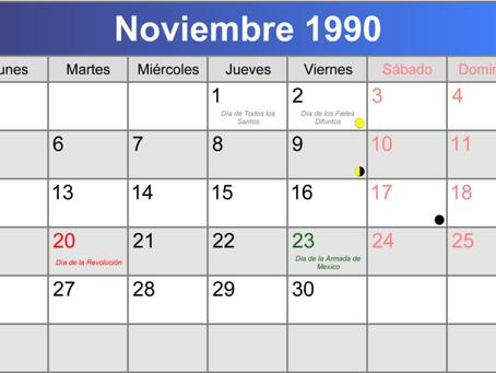 Noviembre del 90...