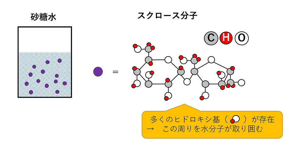 分子として水に溶解
