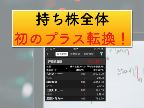 【株式投資日記(10)】2021/3/21