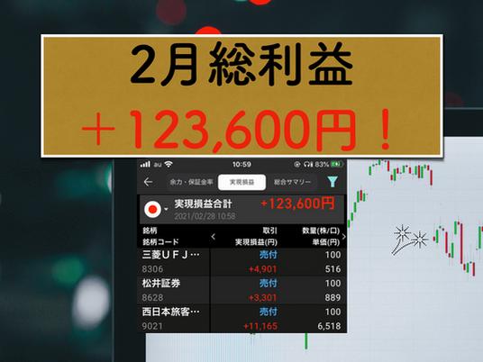 【株式投資日記(9)】2021/2/28