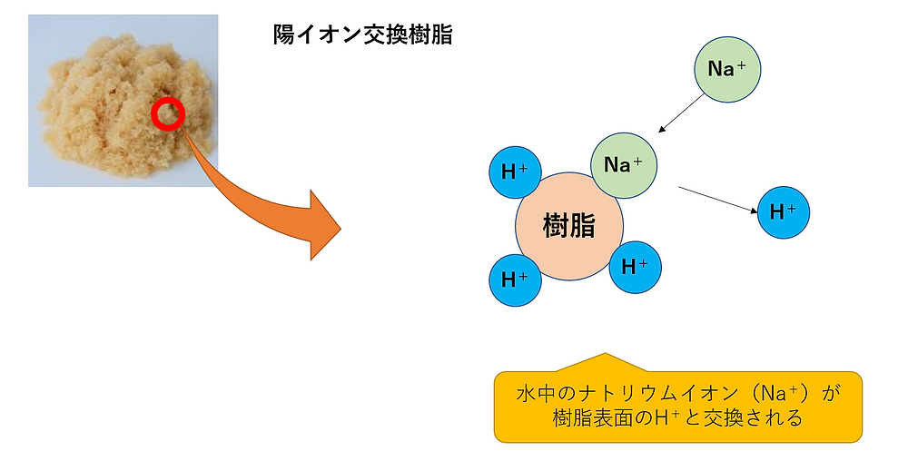 イオン交換樹脂の仕組み