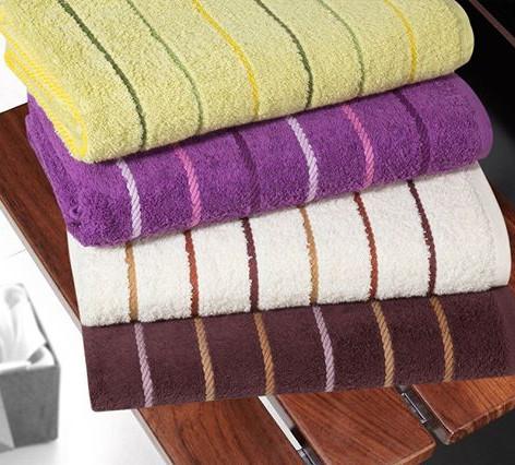 Purple-white-brown-towel-set