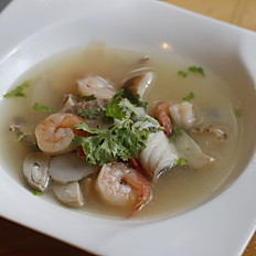 Clear Tom Yam Seafood Soup