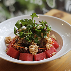 Watermelon Feta Cheese Rice Crackers Salad