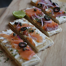 Smoked Salmon Cheese Brizza