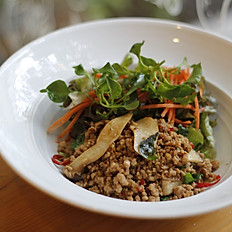 Minced Pork Basil Salad