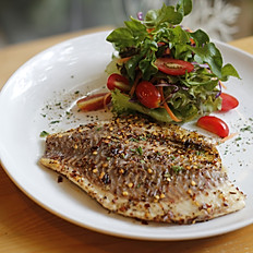 Peri Peri Fish With Salad