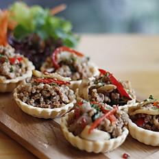 Pork Chilli Basil Tarts (6nos)