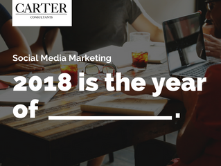 Social Media Marketing - 2018 is the year of?