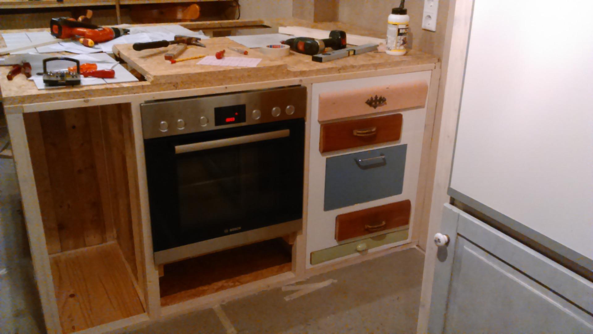 Kücheninsel im Bau