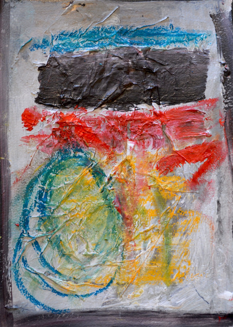 Abstraction rouge et jaune (2012)