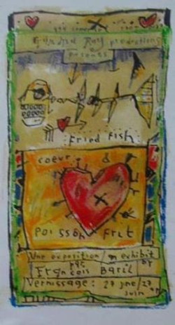 Coeur et poisson frit