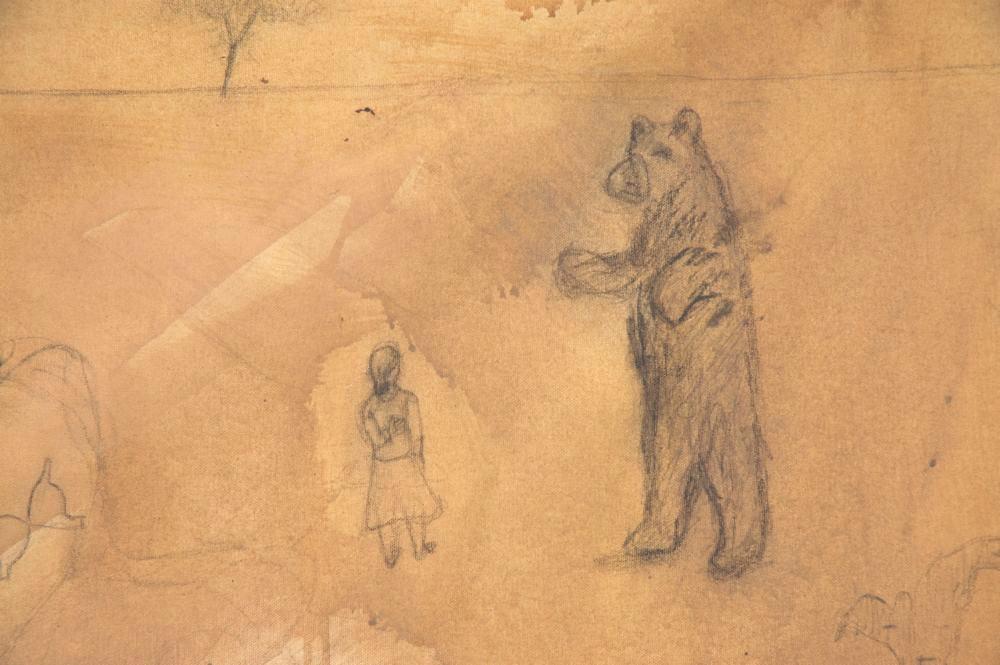 Sans titre (ours) détail
