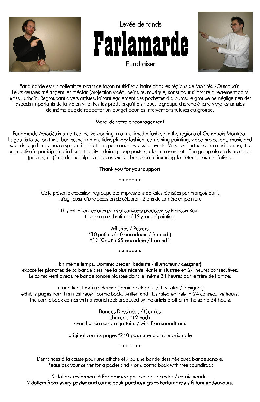 Farlamarde : Expo au café Nostalgica