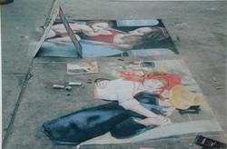 Dessins à la craie (1995-2000)