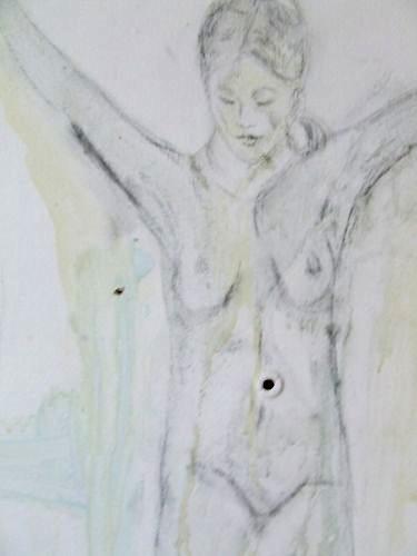 Murale sur une porte (ballerine)