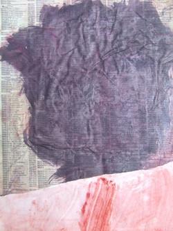La crique rouge (1999) (collage)