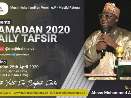 Ramadan Programm: Tafseer Livestream auf Facebook