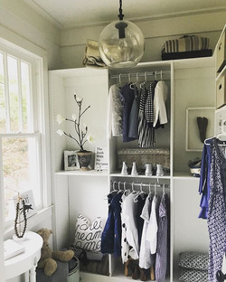 In prep to move back to California.. The cleanest my two little girl's closet will ever be... a clea