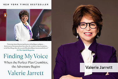 Valerie Jarrett with Book Cover.jpg