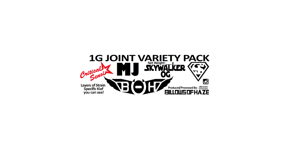 4-10 1g Variety Joint Packs