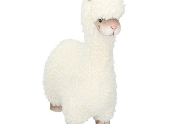 Wollig alpaca beeldje