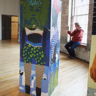 The Block ( detail) on exhibit @ Mass MoCA