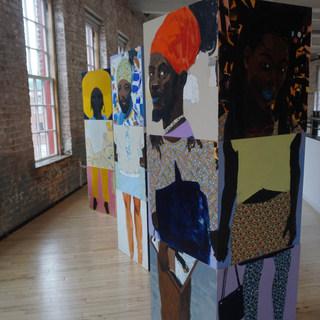 The Block  (detail) on exhibit @ Mass MoCA